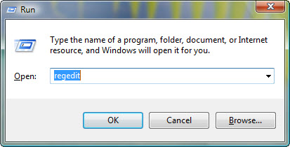 windows7 regedit